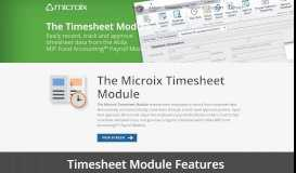 Timesheet Module – Microix