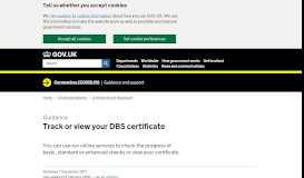Track or view your DBS certificate - GOV.UK