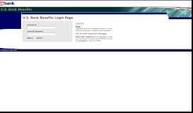 USBank Web Access Management:Authentication Login