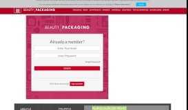 User Login - Beauty Packaging