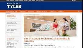 UT Tyler Chapter of The National Society of Leadership ...