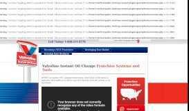 Valvoline Instant Oil Change Franchise Tools & Systems