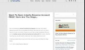 Want To Open Liberty Reserve Account FREE? Here Are The ...