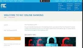 Welcome to NIC Online Banking