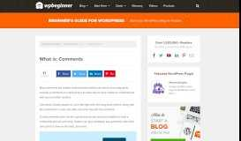 What is a Comment? How to Manage Comments in WordPress