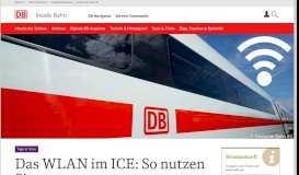 WIFIonICE - das kostenlose WLAN im ICE | DB Inside Bahn