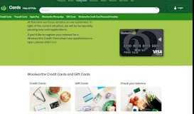 Woolworths Credit Cards | Woolworths Cards