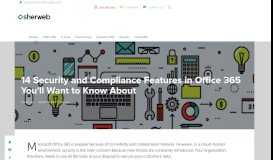 14 Security and Compliance Features in Office 365 You'll Want to ...