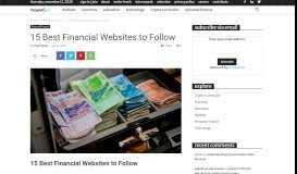 15 Best Financial Websites to Follow - FinMarketGuru