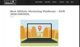 20+ Best Affiliate Marketing Platforms and Networks of 2019 - Which is ...