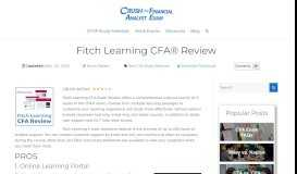 2019 Fitch Learning CFA® Review [Read Before Purchasing!]