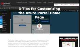 3 Tips for Customizing the Azure Portal Home Page | Enhansoft