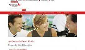 401(k) Retirement Plans - Ameritas