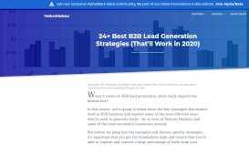 5 Best B2B Lead Generation Strategies (That Work in 2019)