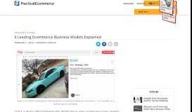 6 Leading Ecommerce Business Models Explained | Practical ...