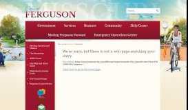 604 computer entries - City of Ferguson, MO