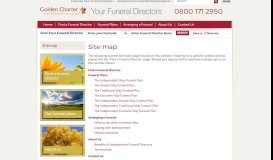 A local independent funeral director approved by Golden Charter