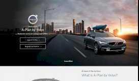 A-Plan by Volvo   Login