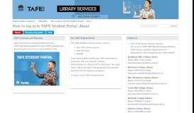 About - How to log in to TAFE Student Portal - LibGuides at Western ...