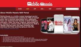 About Mobile Masala WAP Portal - Mobile Masala Web