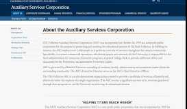 About the ASC - Auxiliary Services Corporation - Cal State Fullerton