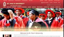 Academic Staff   St. Paul's University – Kenya.