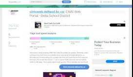 Access cimsweb.deltasd.bc.ca. IIS7