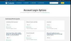 Account Login Options   Prudential Financial