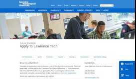 Admissions - Apply to Lawrence Tech