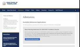 Admissions – ECWA School of Nursing Egbe