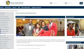 Admissions - International Admission | JCSU Web Portal