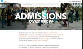Admissions Overview – 4CITIES
