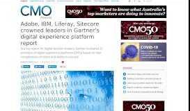 Adobe, IBM, Liferay, Sitecore crowned leaders in Gartner's digital ...