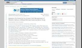 Adoption of a Portal for the Primary Care Management of Pediatric ...