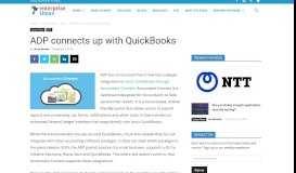 ADP connects up with QuickBooks - - Enterprise Times