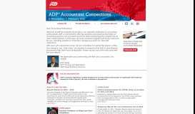 ADP Small Business Services - ADP Accountant Connections