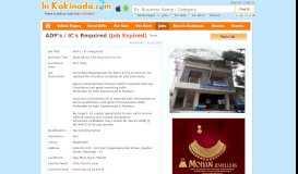 ADP's / IC's Required Jobs in Bajaj Allianz Life Insurance Co.Ltd ...