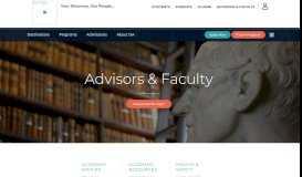 Advisors & Faculty - International Studies Abroad