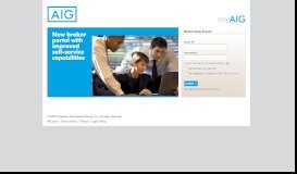 AIG Login Page