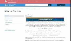 Alliance Districts - CT.gov