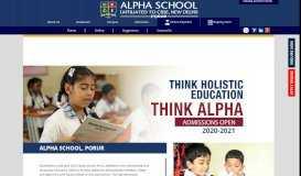 Alpha CBSE School Porur