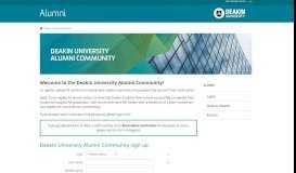 Alumni Home - Deakin University