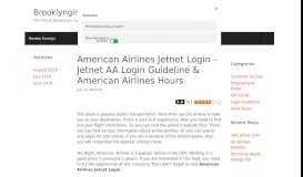 American Airlines Jetnet Login – Jetnet AA Login Guideline ...