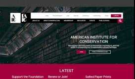 American Institute for Conservation & Foundation for Advancement in ...
