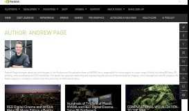 Andrew Page Author Page | The Official NVIDIA Blog