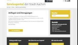 Anliegen und Anregungen übermitteln online - Serviceportal der Stadt ...