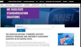 ANSI-American National Standards Institute