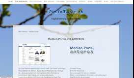 Anteros Medien-Portal - Katalog-Software.ch - PIM-Software.ch