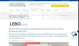 Anwendungsreport LEBO GmbH - B2B Online-Portal mit integrierter ...