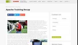 Apache Training Recap - Canada West Harvest Center